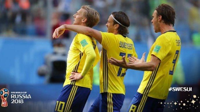 Skor Akhir Swedia vs Swiss 1-0, Emil Forsberg dkk Melaju ke Babak Perempat Final