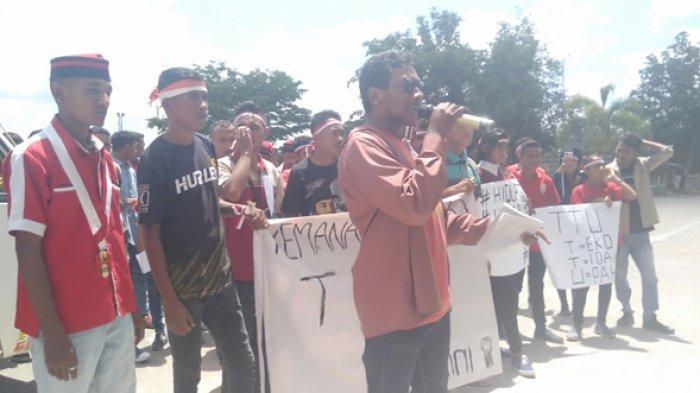 Tak Temui Bupati dan DPRD TTU, Demonstran dari GMNI Cabang Kefamenanu Bubarkan Diri