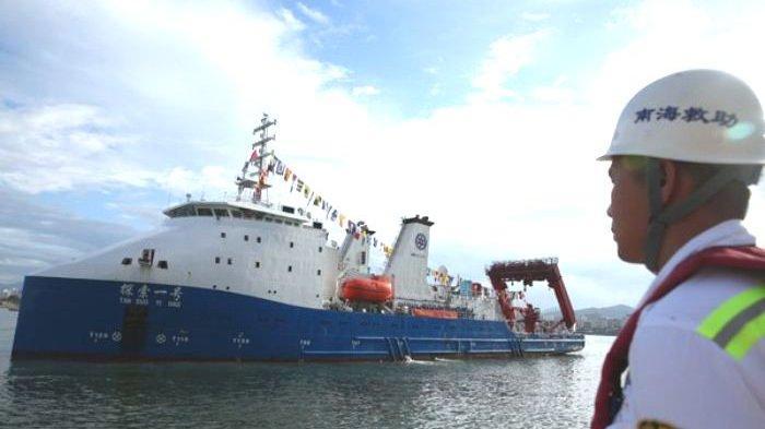 Kapal ChinaJadi Harapan TNI Evakuasi KRI Nanggala di Kedalaman 850M, Tan Suo 2 BisaSelam 4.500Meter
