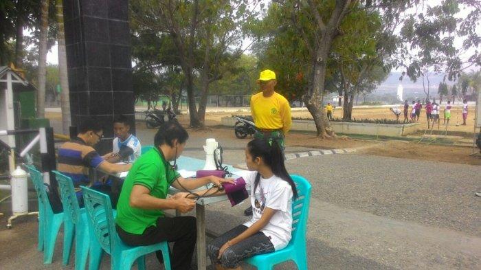 Calon Mahasiswa Akademi Pertanahan Jalani Tes Samapta di Kodim Sumba Timur