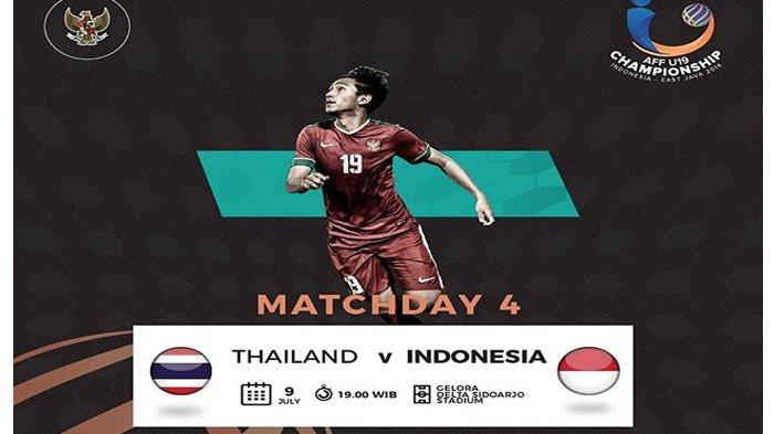 LIVE Streaming Indosiar dan Vidio.com Pukul 19.00 WIB, Inilah Susunan Pemain Thailand vs Indonesia