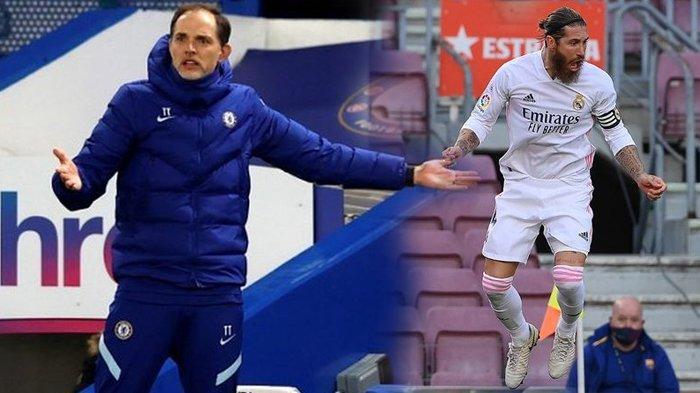 Siaran Langsung Chelsea vs Real Madrid Malam Ini, Strategi Thomas Tuchel Hentikan Sergio Ramos?