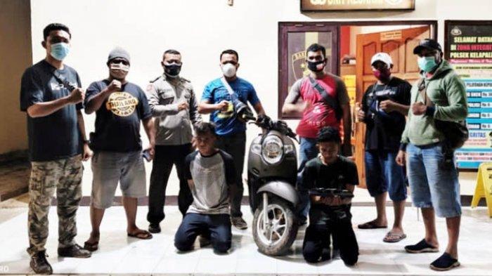 Tim Buser Polsek Kelapa Lima Bekuk Dua Pelaku Curanmor