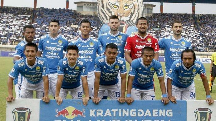 Starting eleven Persib Bandung saat menjamu Arema FC di babak 16 besar Piala Indonesia, di Si Jalak Harupat, Senin (18/2/2019).