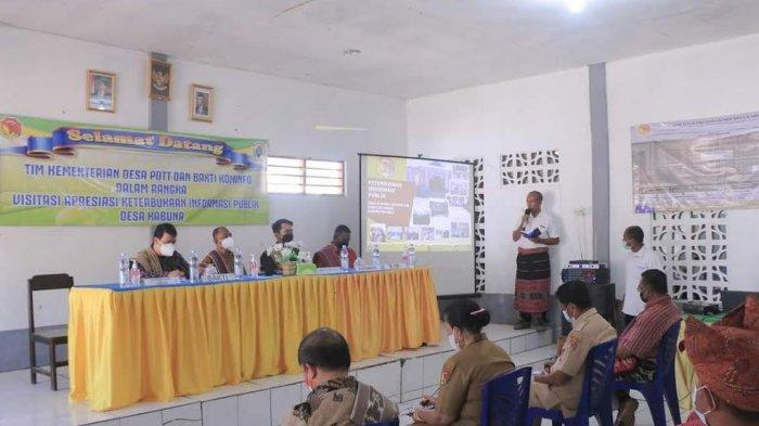 Kementerian Desa dan PDT Berharap Desa Kabuna di Belu Jadi Pilot Project Keterbukaan Informasi