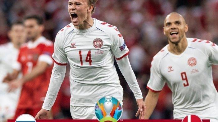 Euro 2020 : Tak Diduga, Denmark Lolos Babak 16 Besar Dampingi Belgia Usai Bantai Rusia 4-1