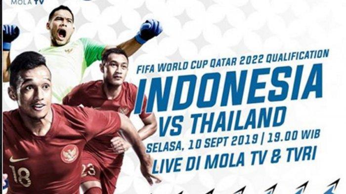 LIVE Mola TV Link Streaming TVRI Timnas Indonesia vs Thailand Tekanan Akira Nishino, Simon McMenemy?