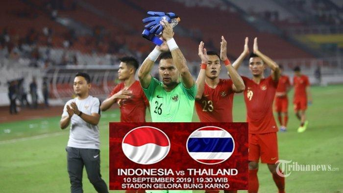 SEDANG LIVE Thailand Vs Indonesia, Link Live Streaming TVRI dan Live Streaming Mola TV Jam 19.30 WIB