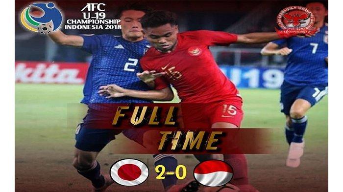 Indonesia Gagal ke Piala Dunia U-20 2019 Setelah Kalah 0-2 dari Timnas U-19 Jepang