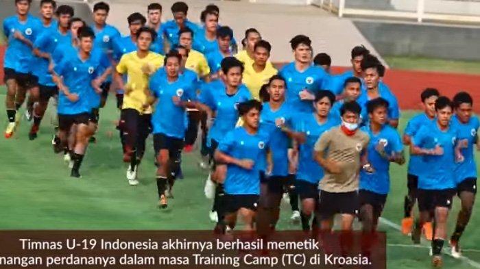 Timnas U19 Indonesia di bawah asuhan Shin Tae-yong menjalani latihan di Kroasia menjelang pertandingan melawan Qatar untuk kedua kalinya, Minggu (20/9/2020) malam WIB.