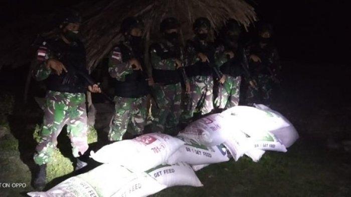 TNI Temukan 10 Karung Pakan Ternak Dekat Batas Negara RI-RDTL