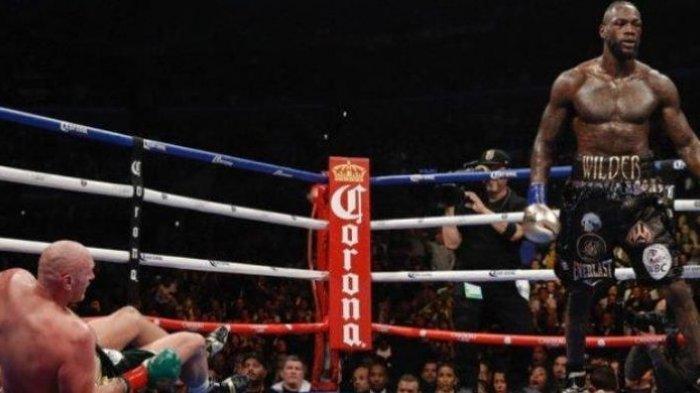 Tidak Live TVOne, Ini Jadwal Siaran Langsung Tinju Dunia Deontay Wilder versus Tyson Fury