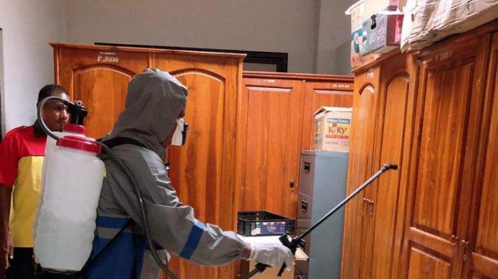 Cegah Covid 10, Undana Kupang Lakukan Penyemprotan Disinfektan