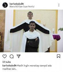 Unggahan Sedih Frater Karlos di Instagram Sebelum Tewas Gantung Diri