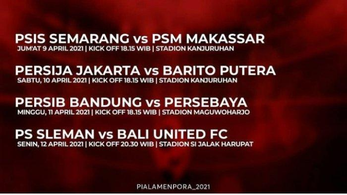 Live Streaming Babak 8 Besar Piala Menpora 2021 Hari Ini Hingga 12 April 2021, Live Indosiar & Skor