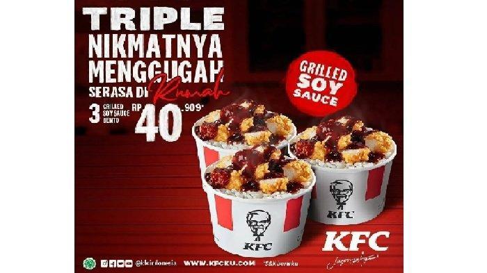 Promo KFC Jumat 16 April 2021, 5 Ayam Goreng 3 Nasi Rp 68Ribuan, 3 Triple Krispy Burger Rp 54Ribuan