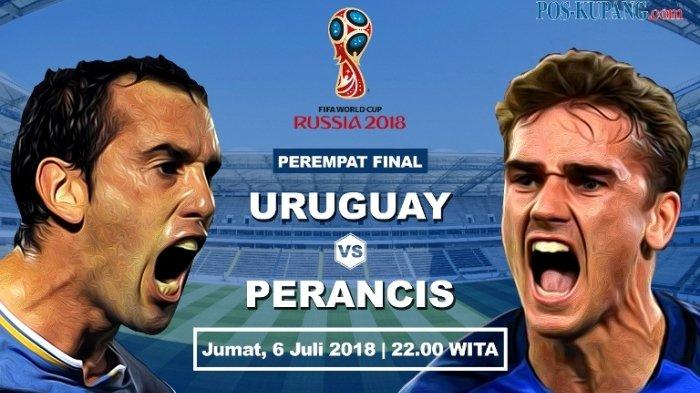 Prediksi Skor dan Susunan Pemain Uruguay vs Prancis di Piala Dunia 2018. Live Trans TV