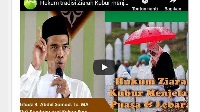 Simak Penjelasan Ustadz Abdul Somad tentang Ziarah Kubur Jelang Puasa Ramadan
