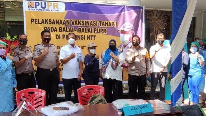 Kegiatan Vaksinasi Tahap I di Balai PUPR, Kapolresta Kupang Kota Harap Semua Warga LakukanVaksinasi