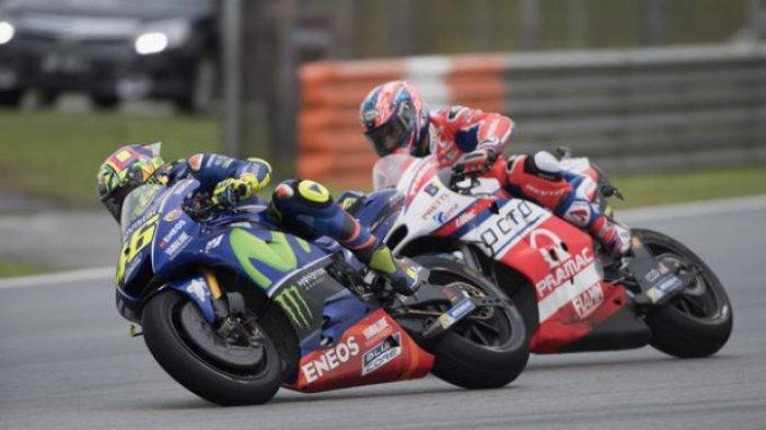 MotoGP 2017 di Sepang-Malaysia, Dovizioso Finish Pertama, Rossi Tak Nyaman di Lintas Basah