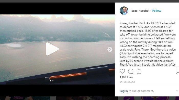 Viral! Ini Penampakan Tsunami Palu Dari Udara Yang Direkam Pilot Batik Air Saat Take Off