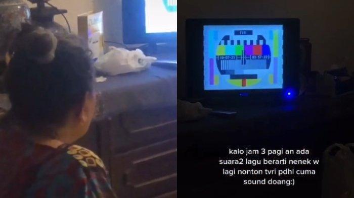 Viral, Sang Cucu Bongkar Kebiasaan Nenek Nonton TV Pukul 3 Pagi, Ini Ceritannya