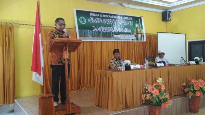 Wabup Langoday Buka Musda MUI Kabupaten Lembata