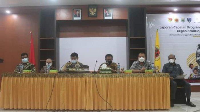 Wabup Kabupaten Kupang Ingatkan Kepala BP4D dan Kadinkes Evaluasi Program Stunting