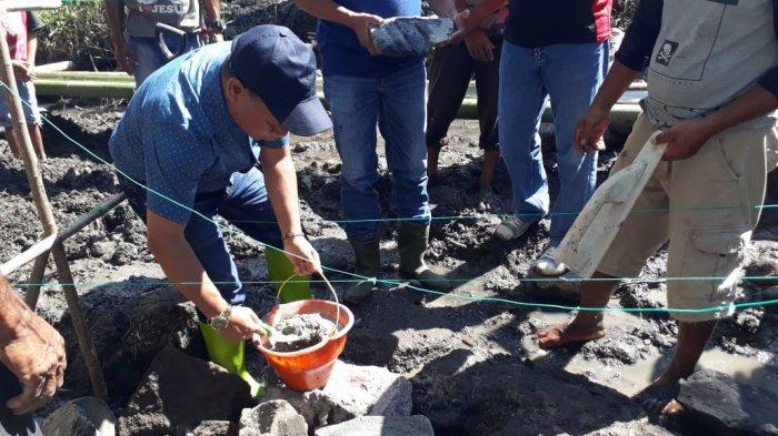 Wabub Ngada Letak Batu Pertama Pembangunan Rehabilitasi Irigasi Tersier di Turadua
