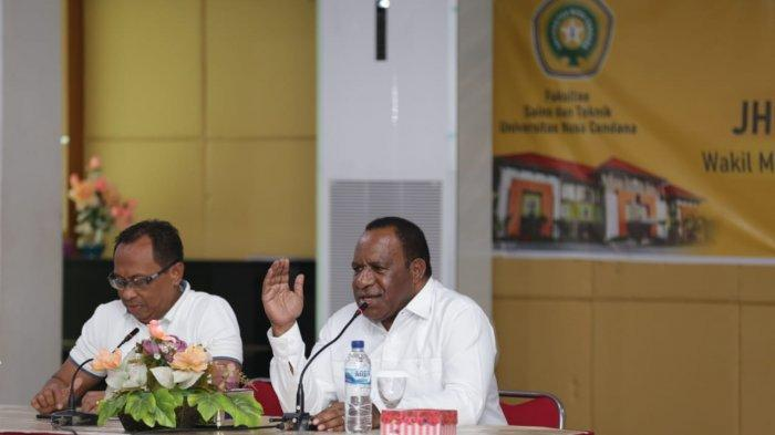 Wamen PUPR Tinjau Kerusakan Sarpras Akibat Badai Seroja di Undana
