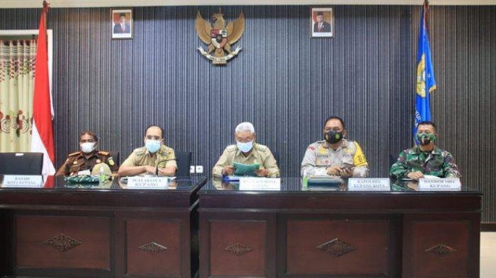 Wali Kota Kupang Ikut Rapat Koordinasi Penanganan Covid-19 yang dipimpin Mendagri