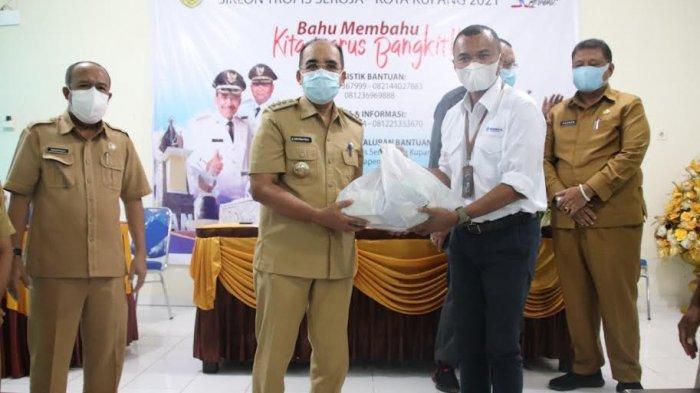 Wali Kota Terima Sumbangan dari Pelindo Kupang