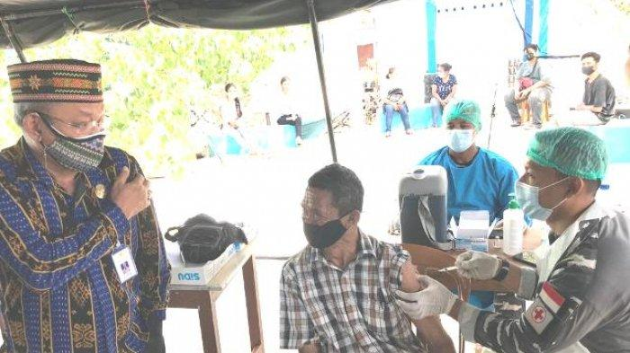 1000 Warga Kecamatan Kelapa Lima Dapat Layanan Serbuan Vaksinasi Lantamal VII Kupang