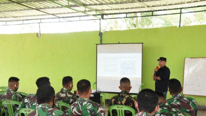 150 Anggota Yonif 743/PSY Belajar Cara Bijak Gunakan Sosial Media Bekal Tugas di Perbatasan NKRI
