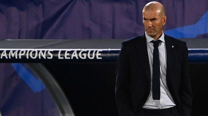 Pelatih Real Madrid, Zinedine Zidane, pada laga kontra Shakhtar Donetsk (Ukraina), Kamis (22/10/2020) dini hari WIB.
