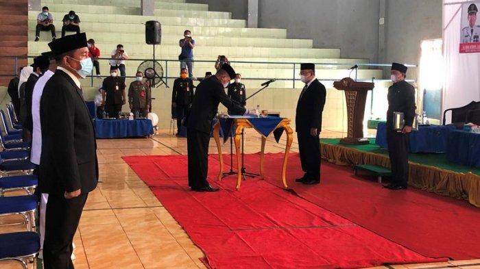 102 Pejabat Eselon III dan IV di Pemkab Lampung Utara Dilantik, Lekok: Tidak Korupsi