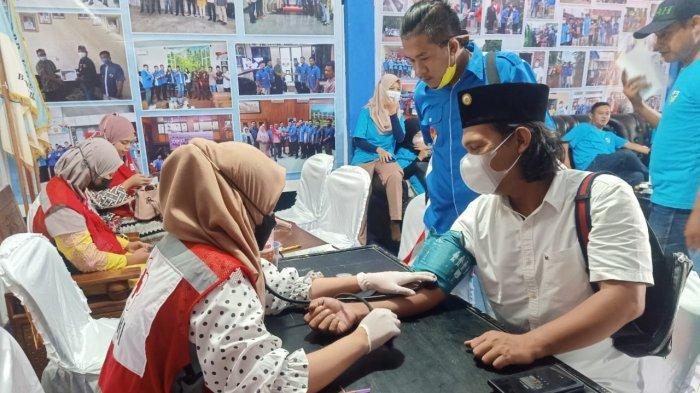 112 Kantong Darah Berhasil Dikumpulkan dari Aksi Donor KNPI Bandar Lampung Bersama DDS