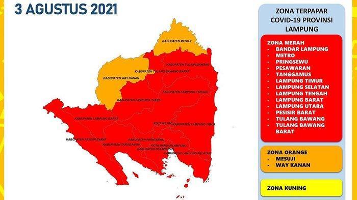 13 Daerah di Lampung Zona Merah Covid-19, Satgas: Lakukan PPKM