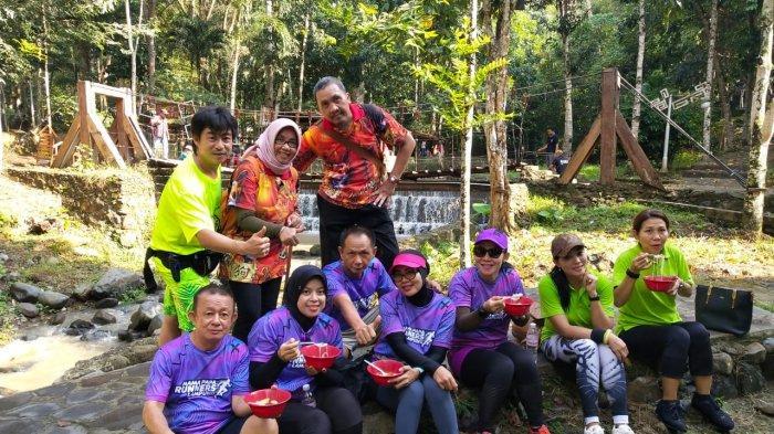 Komunitas Lampung Hash House Harriers Gelar Run di Air Terjun Tahura Wan Abdul Rachman Pesawaran