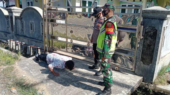 Terjaring Operasi Yustisi di Jalinbar Pesisir Barat, 17 Warga Diberi Sanksi Push Up