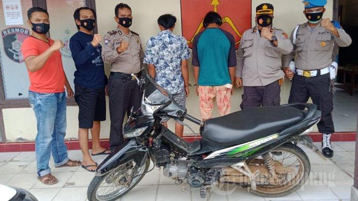 2 Pelaku Curanmor di Way Kanan Diciduk Polisi saat Berada di Rumah