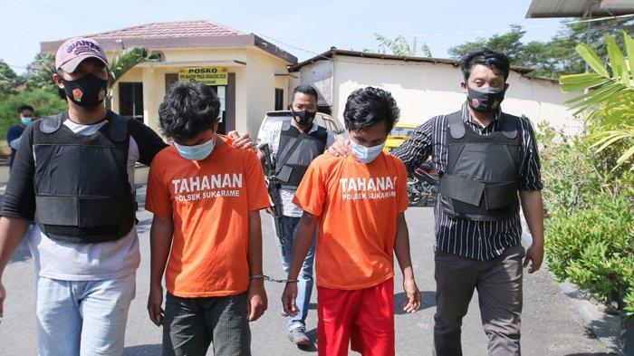 2 Pelaku Pengedar Uang Palsu di Bandar Lampung Diamankan Polisi Depan Rumah Makan
