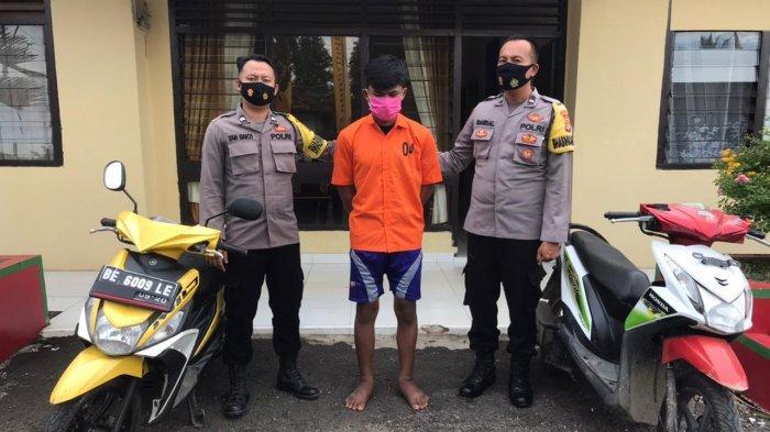 2 Pemuda Ini Curi Motor di Pringsewu karena Ingin Foya-foya