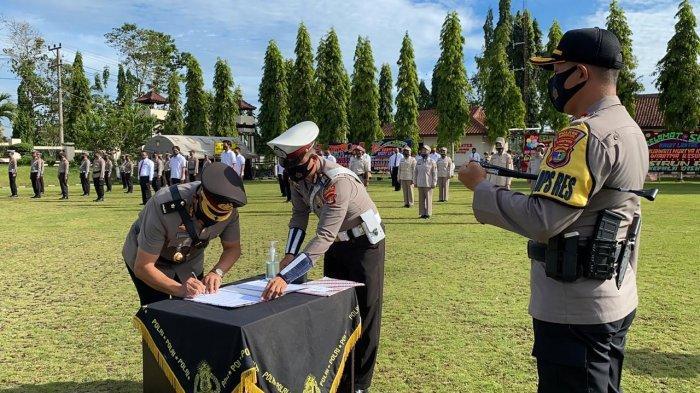 2 Perwira Baru Jabat Kabag Sumda dan Kasat Lantas Polres Lampung Utara