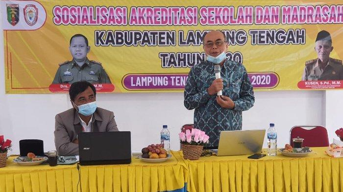 24 Sekolah di Lampung Tengah Ikut Sosialisasi Akreditasi oleh Dewan Pendidikan