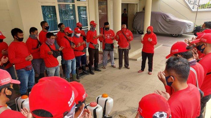 3 Kelurahan di Bandar Lampung Disemprot Disinfektan oleh Tim MTRH Lampung