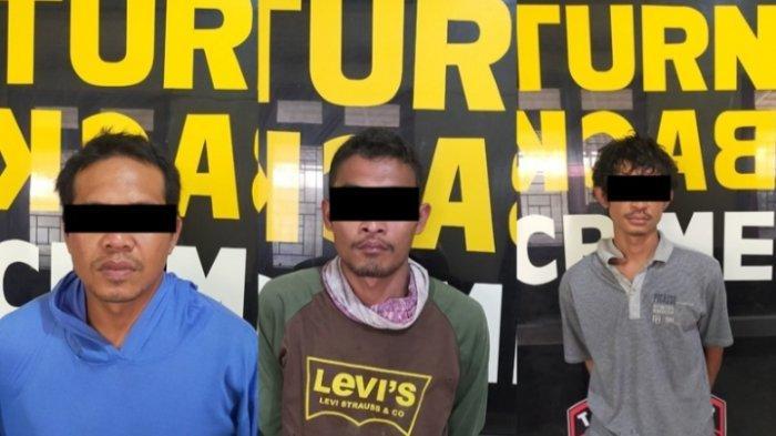 BREAKING NEWS Tiga Pencuri Ekskavator di Lamteng Dibekuk
