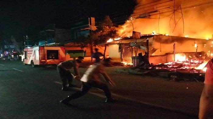 3 Ruko di Pesawaran Lampung Ludes Terbakar, Kerugian Ditaksir Capai Ratusan Juta
