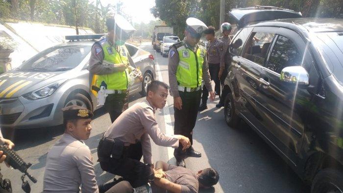 Polisi Tangkap Pelaku Penggelapan Mobil Saat Operasi Zebra di Way Kanan