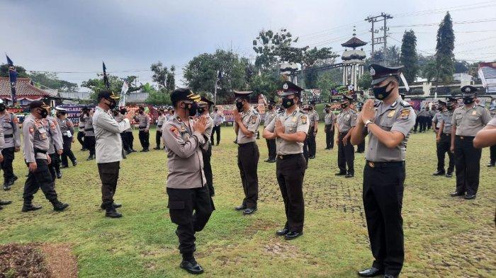 42 Personel Polres Lampung Utara Naik Pangkat di HUT Bhayangkara ke-75